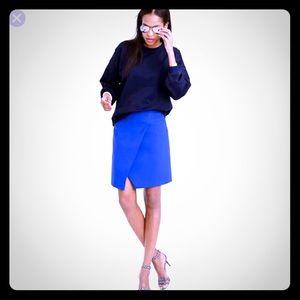 🔵J.Crew cobalt blue faux wrap skirt. *2*🤗